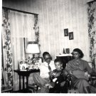 Vintage African American Photo Group Family Mother Father Son Black Americana