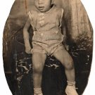 1940s Vintage Handsome Young African American Boy Old Oval Photo Black Americana