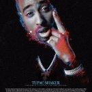 Tupac Shakur Poster Color Art Print w/ Bio African American Rap Rapper Hip Hop