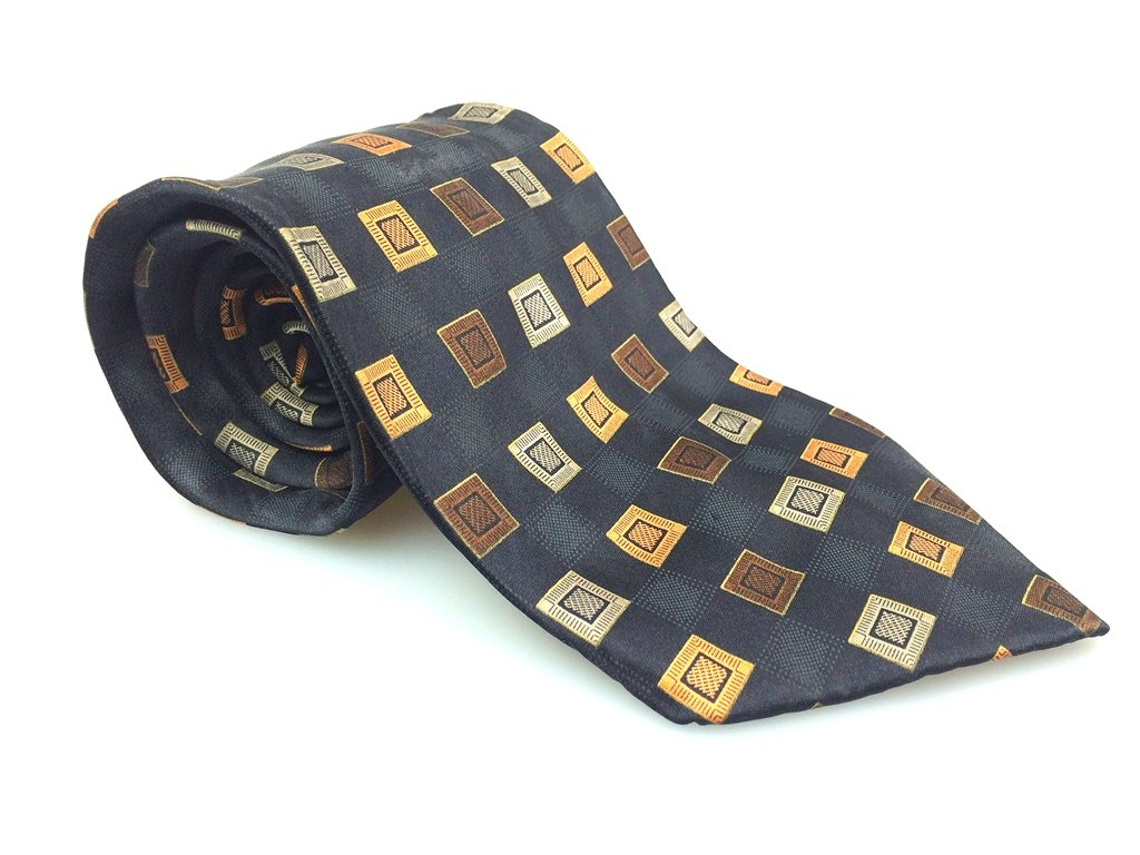 CROFT & BARROW Men's New 100% Silk Tie Gold Green Black NWOT Necktie Ties B1003