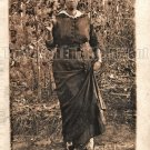 Antique African American Woman Real Photo Postcard RPPC Black Americana TRP14