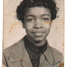 Vintage African American Pretty Girl Old School Class Photo Black Americana V055