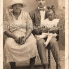 Antique African American Family Real Photo Postcard RPPC Black Americana TRP20