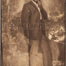 Vintage African American Man w/ Shades Photo Booth Old Black Americana TPB18