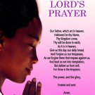 The Lord's Prayer Poster Girls Children Christian Prayer God African American