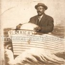 Antique African American Man Real Photo Postcard RPPC Old Black Americana TRP07