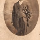 Antique African American Man Real Photo Postcard RPPC Old Black Americana TRP06