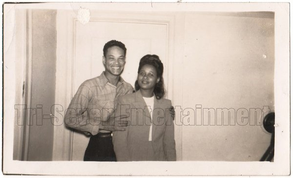 Vintage African American Pretty Woman Couple Old Photo Black Americana HS67