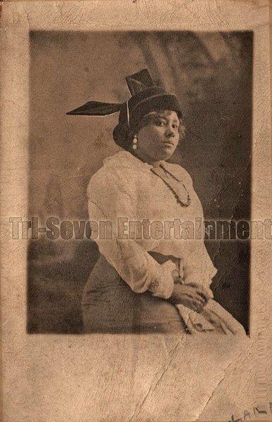 Antique African American Woman Real Photo Postcard RPPC Black Americana TRP01