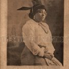 Antique African American Woman Real Photo Postcard RPPC Black Americana TRP01