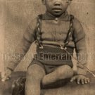 Vintage African American Adorable Young Cute Boy Old Photo Black Americana V032