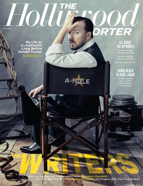 The Hollywood Reporter Magazine - RICKY GERVAIS - MAY 20 2016 ISSUE (NEW)