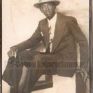 Vintage African American Man w/ Hat Photo Booth Old Black Americana TPB19
