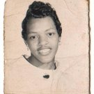 Vintage African American Pretty Girl Old School Class Photo Black Americana V053
