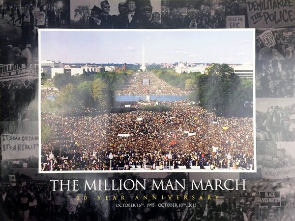 Million Man March Poster 20 Year Anniversary African American History (18x24)