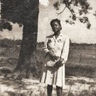 Vintage African American Young Woman in Dress Old Photo Black Americana V050