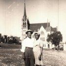 Vintage African American Man Woman Couple Church Old Photo Black Americana V048