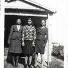 Vintage African American Women Together Old House Photo Black Americana V041