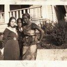 Antique Beautiful African American Pretty Women Photo Old Black Americana EVA09