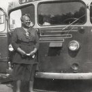 Vintage African American Pretty Older Woman Bus Photo Old Black Americana SQ11