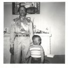Vintage African American Family Man Father Child Old Photo Black Americana SQ32