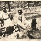 Antique African American Young Family Group Photo Old Black Americana HS10