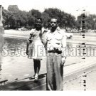 Vintage African American Father Daughter Family Old Photo Black Americana HS50
