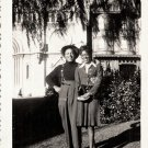 Vintage African American Man Woman Couple Outside Old Photo Black Americana V047