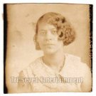 Antique African American Pretty Woman Photo Booth Old Black Americana TPB37
