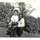 Vintage African American Man Father with Son Boy Old Photo Black Americana HS58