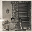 Vintage African American Couple Photo Man Woman Married Old Black Americana SQ13