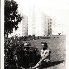 Vintage African American Couple Man Woman Outside Old Photo Black Americana V037