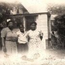 Vintage African American Family Mother Children Photo Old Black Americana HS22