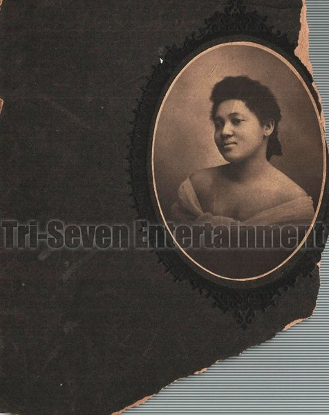 Antique African American Cabinet Card Old Photo Woman Black Americana TCC4