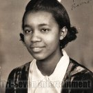 Vintage African American Young Girl School Class Photo Old Black Americana SQ05