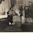 Vintage African American Older Woman Living Room Photo Old Black Americana HS35