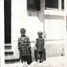 Vintage African American Children Kids Outside Old Photo Black Americana V044