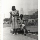 Vintage African American Women Old Photo 1950 Los Angeles Black Americana V07