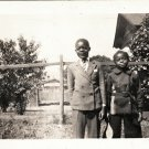 Antique African American Young Boys Children Kids Photo Old Black Americana HS25