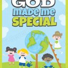 Children's Poster God Made Me Special Color Art Print Kids Series 02 (18x24)