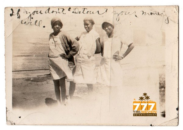 Antique African American Girls Friends Posing Old Photo Black Americana HS77