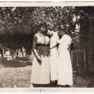 Antique Three Sad African American Women Old Photo Group Black Americana HS81
