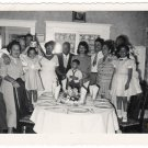 Vintage Beautiful African American Family Old Photo People Black Americana HS84