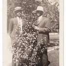Antique African American Sharp Dressed Men Photo Old Black Americana V076