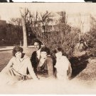 Antique African American Group of Friends Old Photo Black Americana HS80