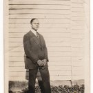 Antique African American Handsome Man in Suit Tie Old Photo Black Americana V063