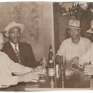 Vintage African Men Group Old Photo Bar Club Drinking Man Black Americana HS71