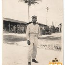 Vintage Young African American Military Soldier Photo Old Black Americana V069