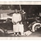 Antique African American Women Family by Car Old Photo Black Americana HS92