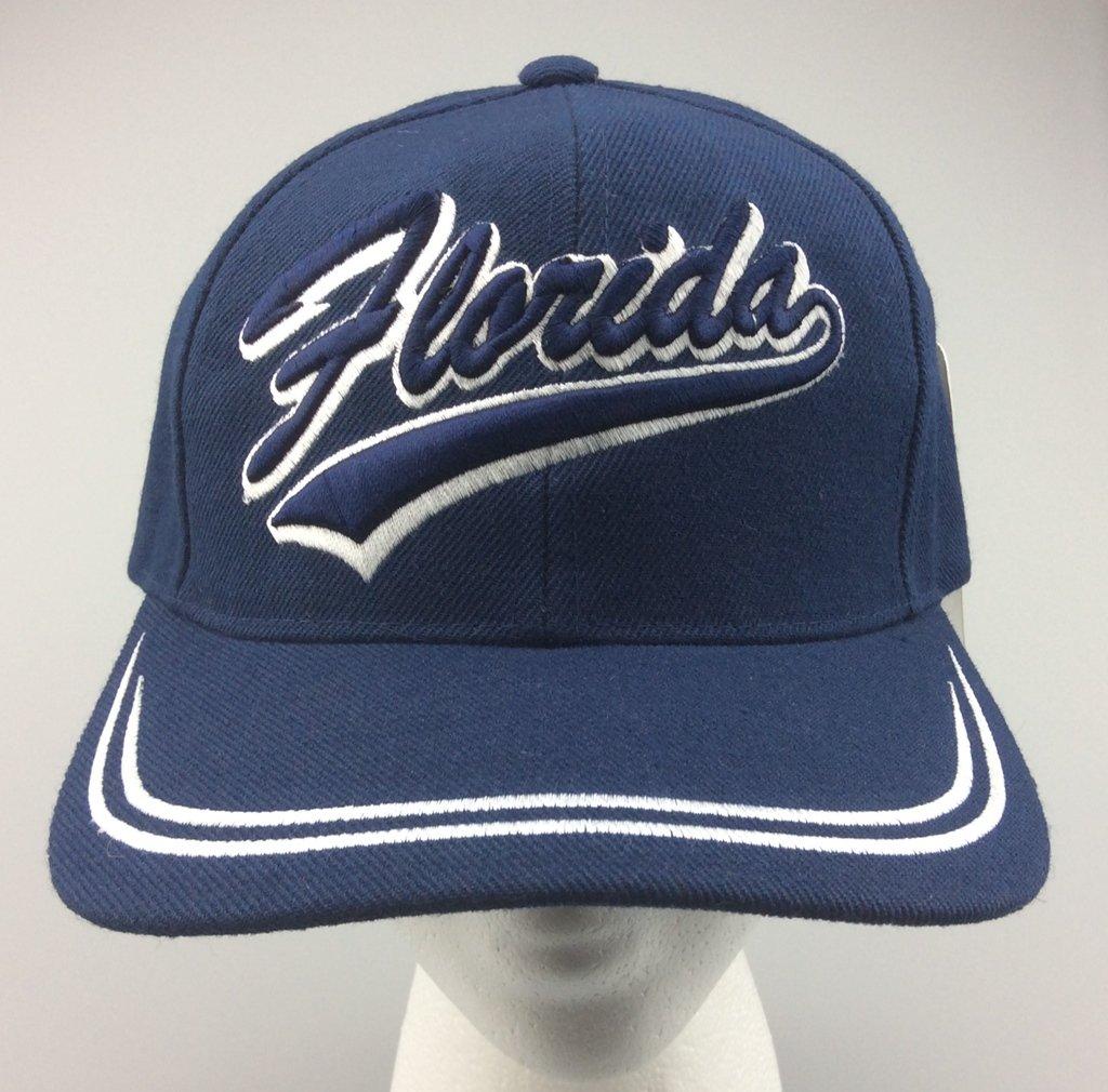 New Baseball Cap FLORIDA State Curved Blue Adjustable Velcro Men's Hat